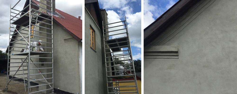 murermester gavl gesimser pudsning oppudsning murreparation renovering