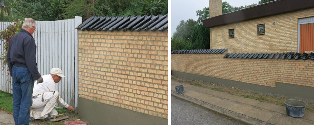 murermester læmur havemur lav mur sokkel murstensmur renovering