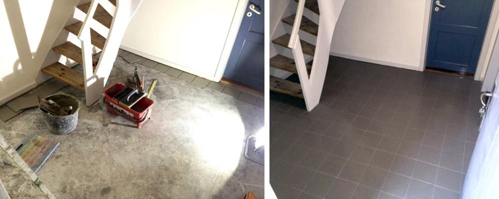 murermester flisegulv entre bryggers fliser gulv renovering